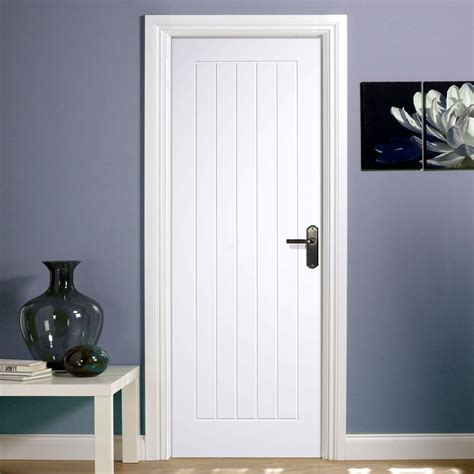 Home Hardware Interior Doors by Mexicano White Primed Door With Vertical Lining