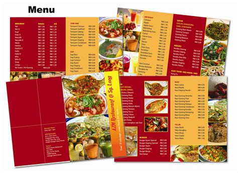 contoh desain menu kedai makan contoh banner kedai makan surat box