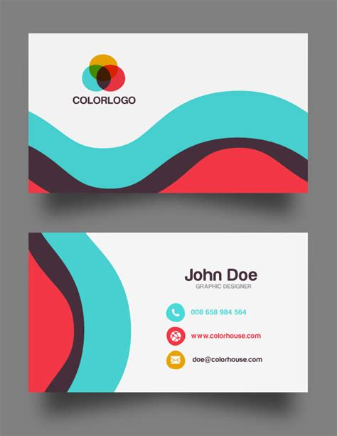 Free Name Cards Design Template by 30 Free Business Card Psd Templates Mockups Design