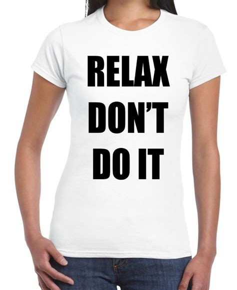 Relax T Shirt relax don t do it t shirt 1980s 80s fancy dress frankie