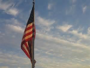 Draping Poles Draped American Flag Pole Dusk Casa Grande Arizona 2004