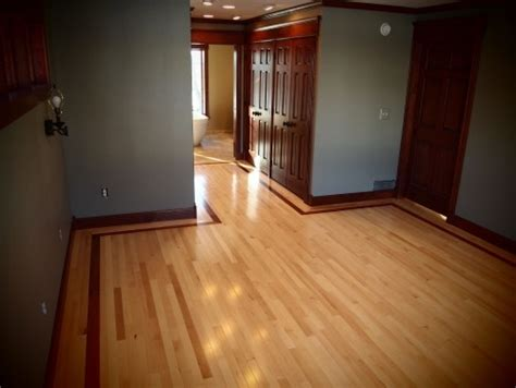maple with cherry trim wood floors lighter grey for our bedroom and living room with