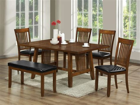 7 Pieces Oak Mission Style Dining Room Set With Rectangle Low Dining Table Mission Style Dining Room Sets Mission Style 7pc Dining