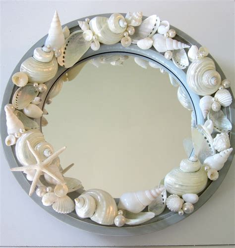 Shell Decorations by Decor Seashell Mirror Nautical Decor Porthole