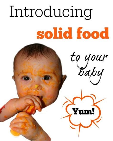 introducing to baby introducing solid food to your baby handmade kidshandmade