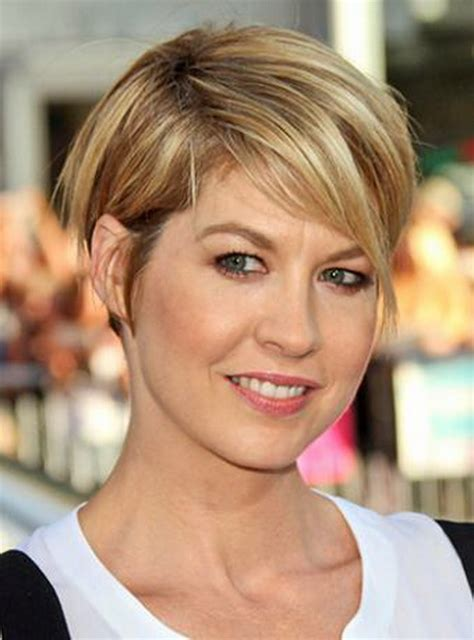 short wedge haircuts with middle part short stacked back longer sides hairstyle