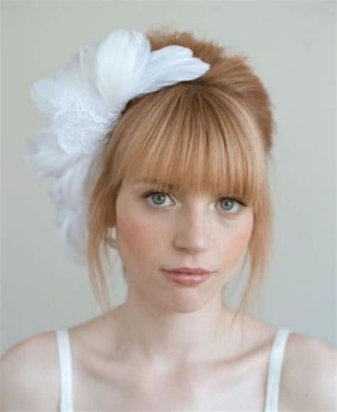 Vintage Wedding Hair With Bangs by Vintage Look To Try Blunt Bangs Pretty Designs