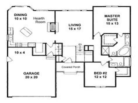 simple square house floor plans 1400 square foot home