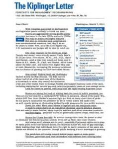 Kiplinger Finance Letter The Kiplinger Letter Levelings