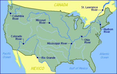 united states map with rivers and oceans jkblick geography skills