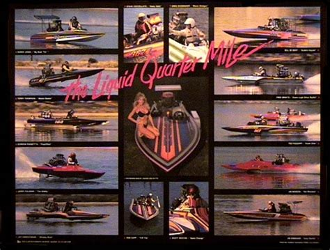 bullet boats merchandise this poster features greats from the days of open boats