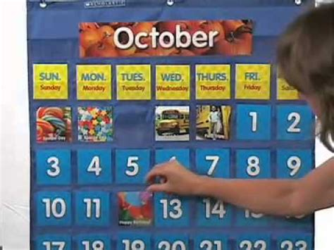 how to make a pocket calendar scholastic monthly calendar pocket chart