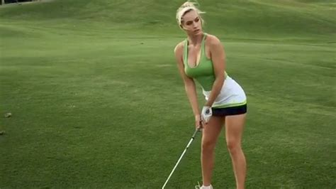 naked golf swing golfer paige spiranac debuts sexy warmup dance