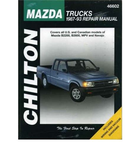 online auto repair manual 1993 mazda b series seat position control mazda trucks b2200 b2600 navajo and mpv 1987 93 sagin workshop car manuals repair books