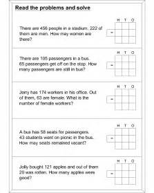 word problem subtraction math worksheets