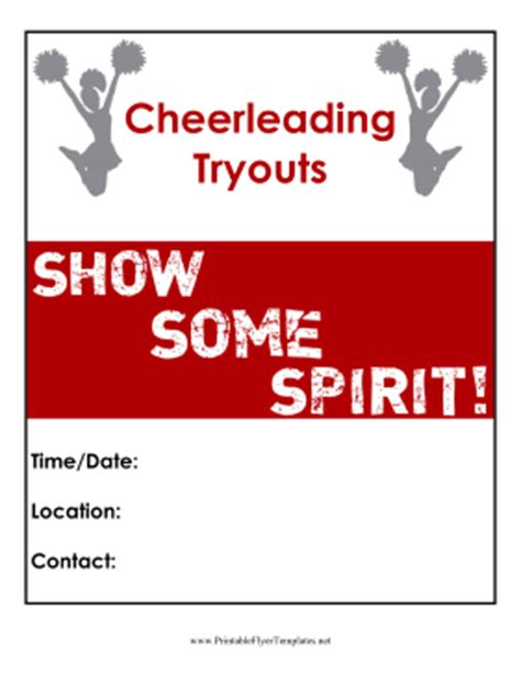 Cheerleading Tryouts Flyer Free Cheerleading Tryout Flyer Template