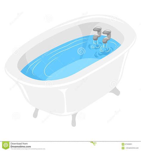 bathtub illustration bath tub filled with water stock vector illustration of