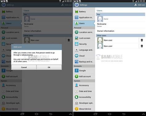 Samsung Tab 3 Yang 10 Inci samsung dilaporkan menguji fungsi multi user pada galaxy