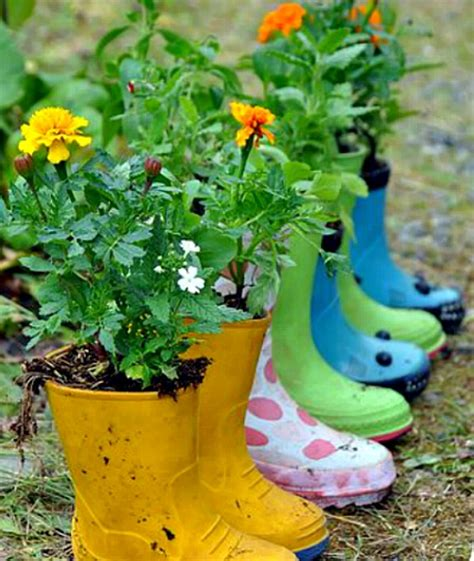 rubber boot decoration adorable rain boot planter ideas a cultivated nest