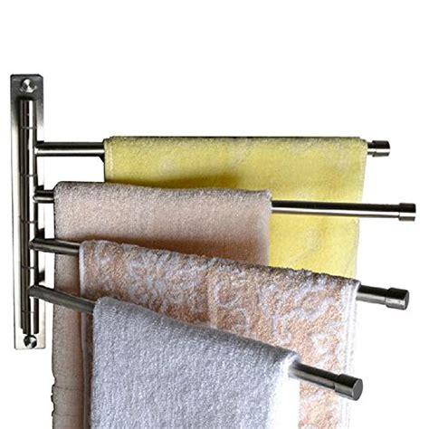 swinging towel rack kes sus 304 stainless steel swing out towel bar 4 bar