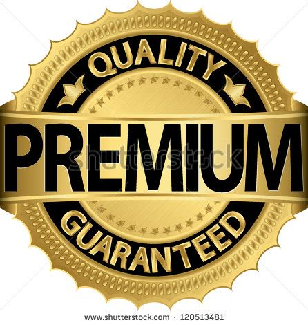 Premium Search Premium Quality Guaranteed Golden Label Vector Illustration 120513481