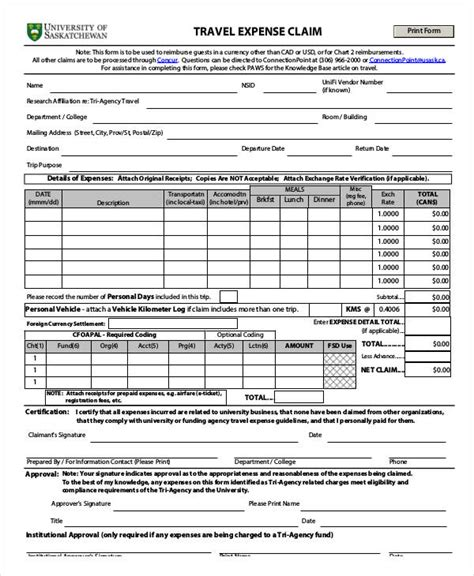 Claim Form Template by Claim Form Template