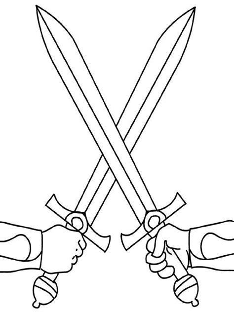 Knight Sword Coloring Page | swords coloring page