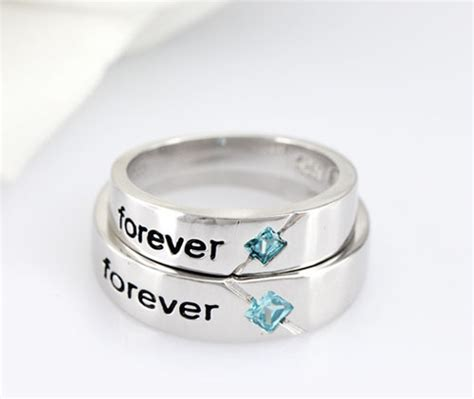 matching engraved promise rings for couples at imens