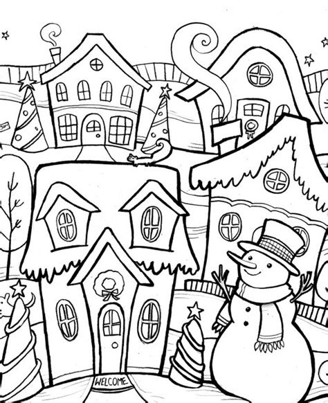 coloring pages winter scenes printable free printable coloring pages of winter scenes coloring home