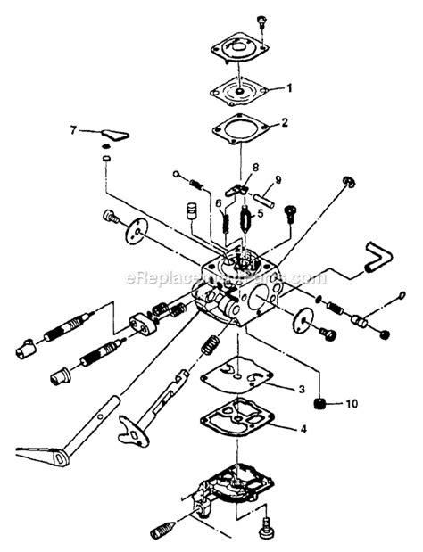 homelite chainsaw parts diagram homelite ut 10741 parts list and diagram