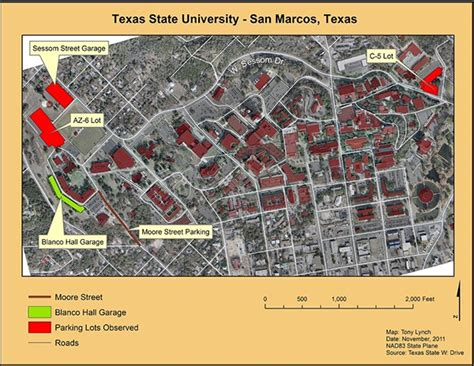 texas state parking map maps while in college on behance