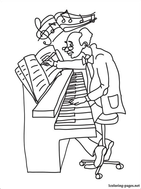 Composer Coloring Pages composer printable coloring pages