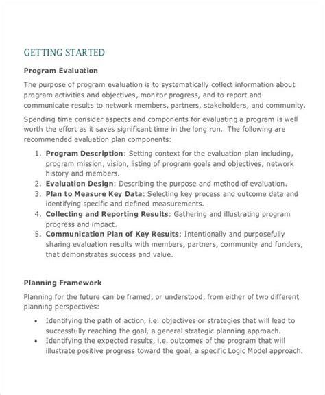 Program Evaluation Cover Letter evaluation plan sle eval plan 7 evaluation plan