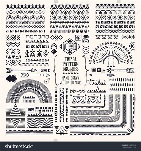 vector pattern brushes hand drawn ethnic brushes patterns textures artistic