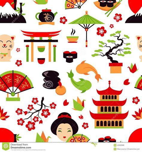 japanese pattern clipart japan seamless pattern stock vector image 45060988
