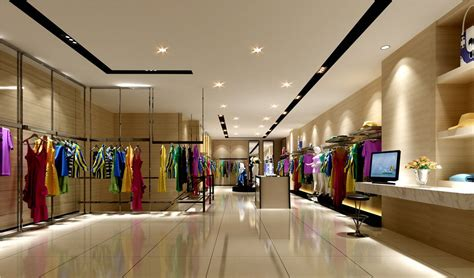 Interior Stores by Clothing Store Interior Decoration View