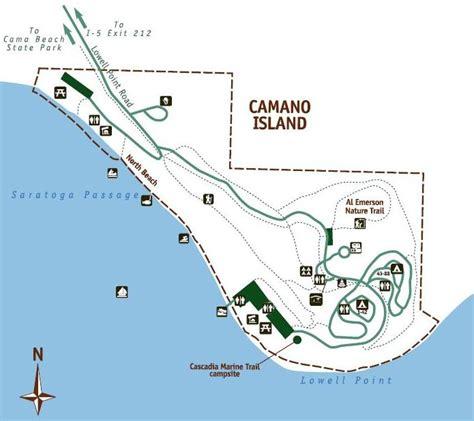 cama beach state park map camano island state park hiking