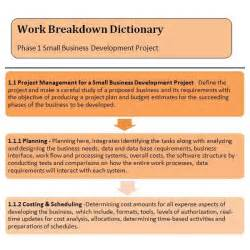Wbs Dictionary Template by Wbs Dictionary Exle How To Create A Work Breakdown