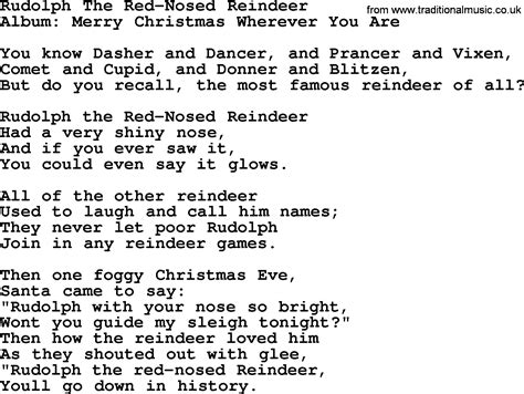 Rudolph The Nosed Reindeer Lyrics Like A Light Bulb by Rudolph The Nosed Reindeer By George Strait Lyrics