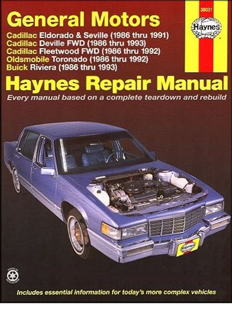 electric and cars manual 1992 cadillac eldorado free book repair manuals eldorado seville deville fleetwood toronado riviera repair manual 1986 1993