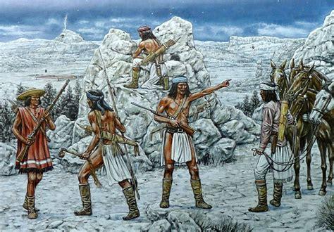 Tableau Wars 2500 by Apache Warriors Preparing For A Raid American Indian War