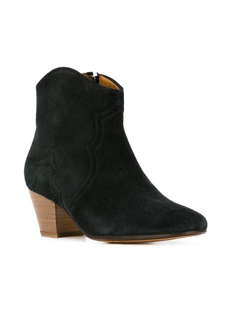dicker boots marant 201 toile dicker boots in gray grey lyst