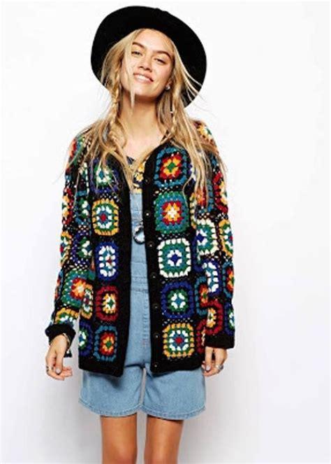 crochet granny jacket idea krose  giyim