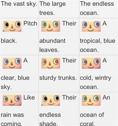 acnl hair color guide sab s new leaf eye guide cool pinterest animal