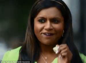 nationwide commercial actress mindy mindy kaling gets naked in teaser for upcoming nationwide