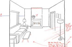 How To Draw A 3d Room how to draw a room with perspective drawing tutorial of a