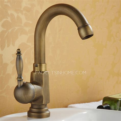 antique bronze stick side handle single bathroom