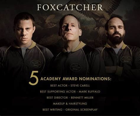 2001 film five oscar nominations foxcatcher pins down 5 oscar nominations including best