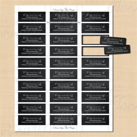 chalkboard return address labels 2 25x0 75 text