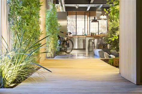 interior garden plants industrial home with interior planting and transparent walls